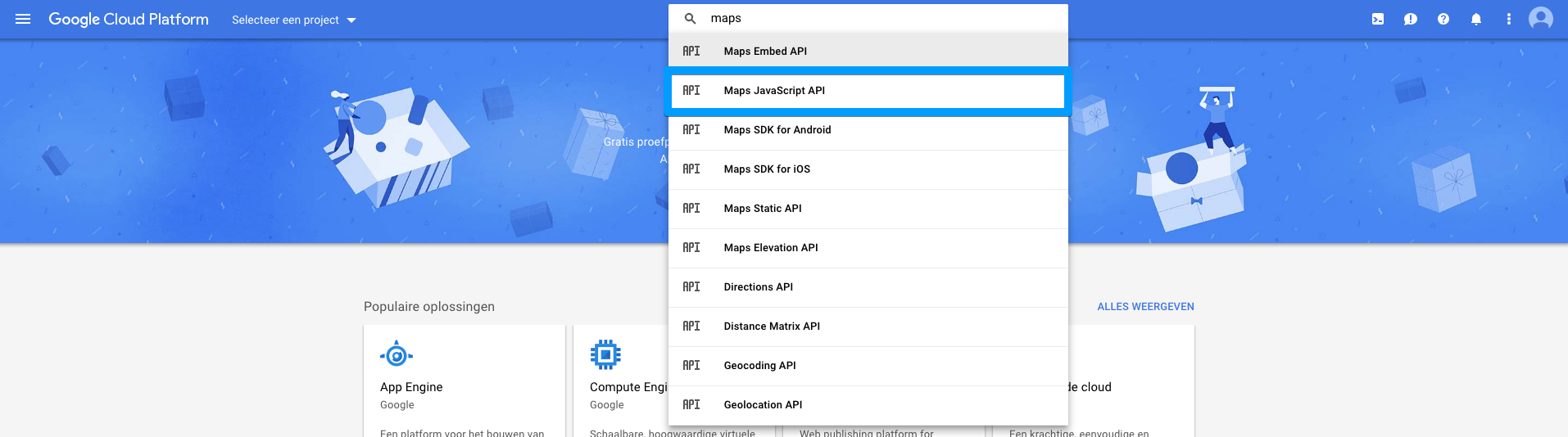 Configure Google Maps