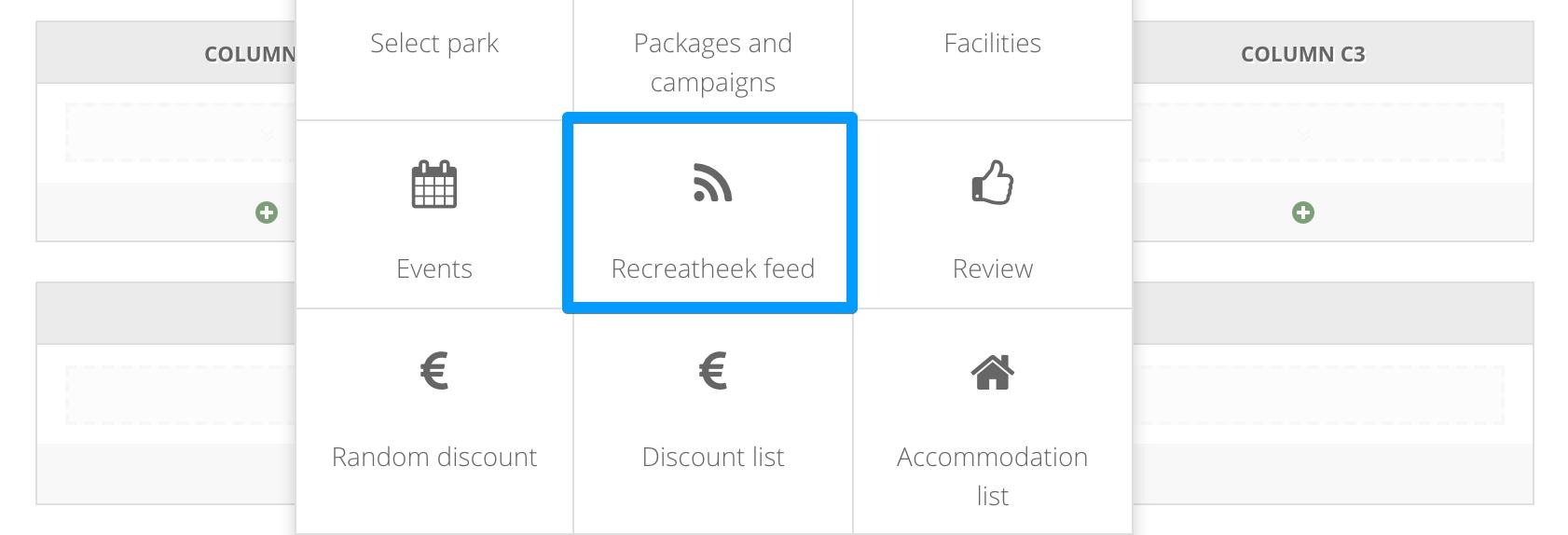 recreatheek widget