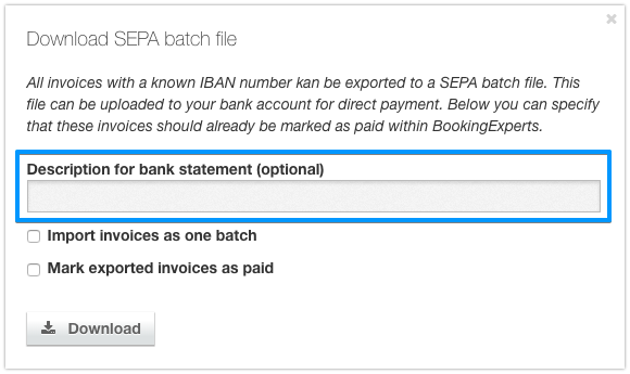 Batch payment