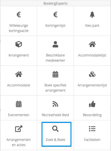 Zoek & boek widget