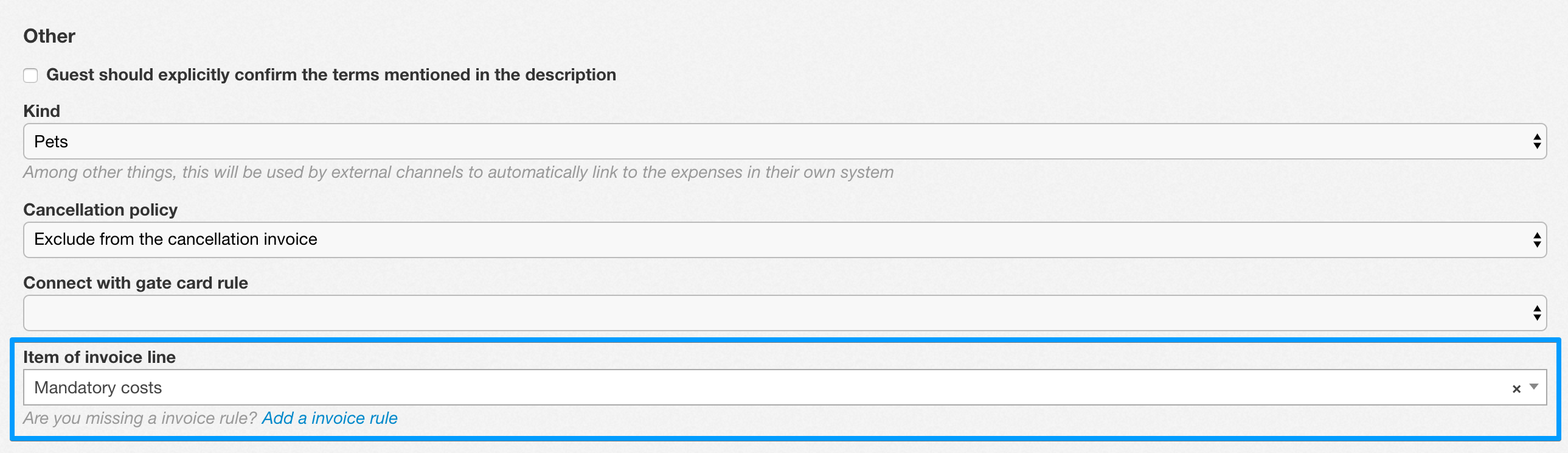 Merge cost on invoice line